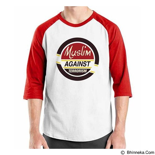 ORDINAL Raglan Muslim Series Muslim Against Terrorism Size ML (Merchant) - Kaos Pria