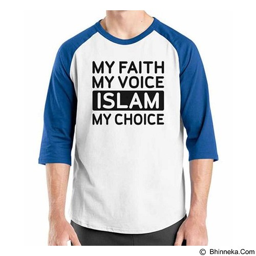 ORDINAL Raglan Muslim Series My Choice Size ML (Merchant) - Kaos Pria