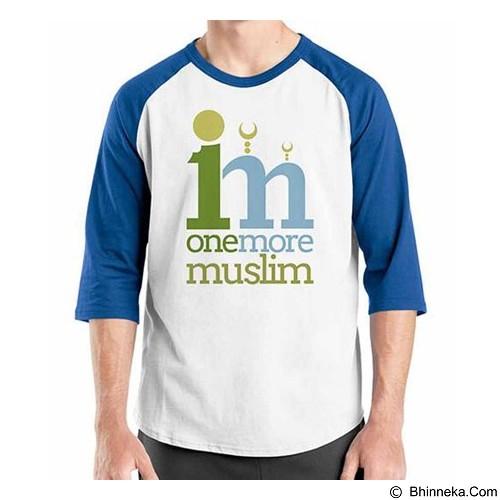 ORDINAL Raglan Muslim Series One More Muslim Size M (Merchant) - Kaos Pria
