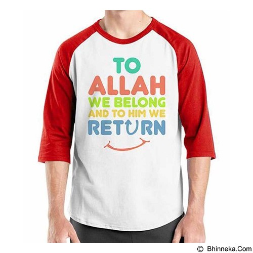ORDINAL Raglan Muslim Series To Allah We Return Size XXL (Merchant) - Kaos Pria