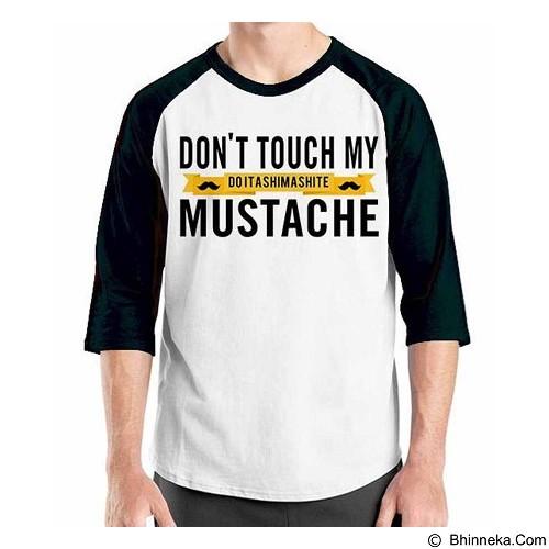 ORDINAL Raglan Mustache 05 Size L (Merchant) - Kaos Pria
