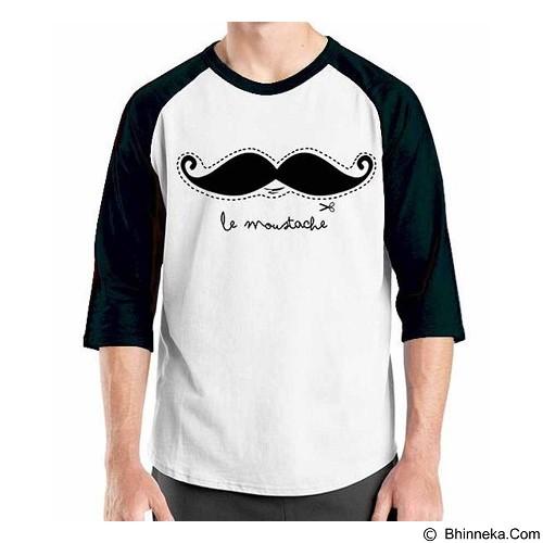 ORDINAL Raglan Mustache 11 Size XL (Merchant) - Kaos Pria