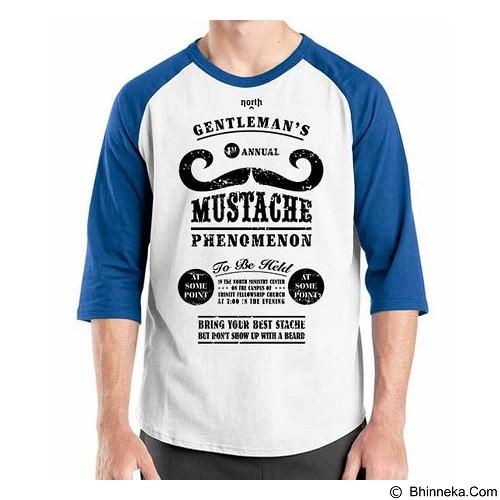ORDINAL Raglan Mustache 18 Size M (Merchant) - Kaos Pria