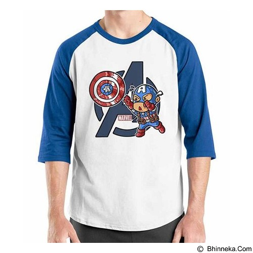 ORDINAL Raglan New Captain America 01 Size XL (Merchant) - Kaos Pria