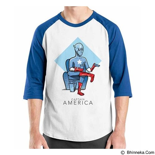 ORDINAL Raglan New Captain America 07 Size M (Merchant) - Kaos Pria