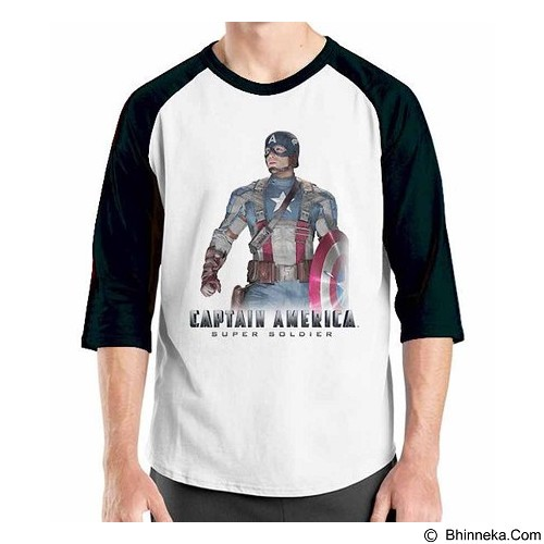 ORDINAL Raglan New Captain America 08 Size ML (Merchant) - Kaos Pria