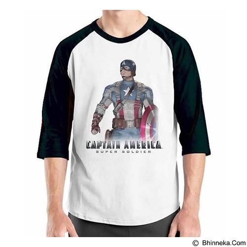 ORDINAL Raglan New Captain America 08 Size XL (Merchant) - Kaos Pria