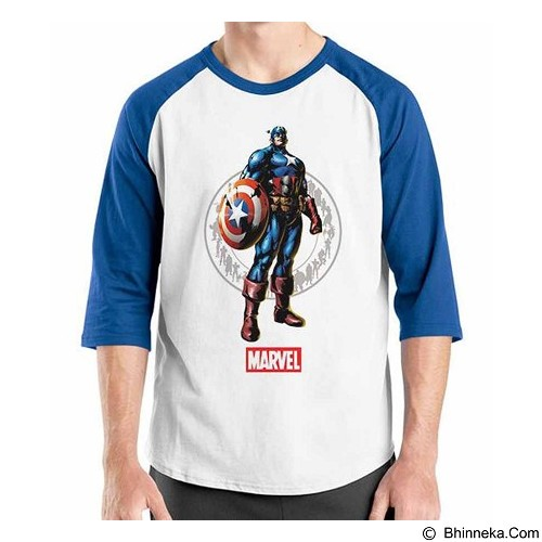 ORDINAL Raglan New Captain America 12 Size S (Merchant) - Kaos Pria