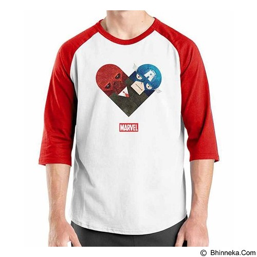 ORDINAL Raglan New Captain America 13 Size L (Merchant) - Kaos Pria