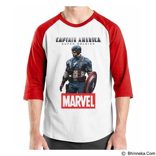 ORDINAL Raglan New Captain America 14 Size M (Merchant) - Kaos Pria