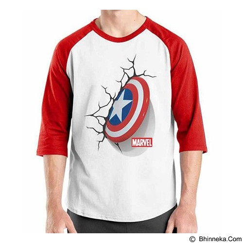 ORDINAL Raglan New Captain America Logo 05 Size ML (Merchant) - Kaos Pria