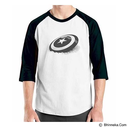 ORDINAL Raglan New Captain America Logo 06 Size XL (Merchant) - Kaos Pria