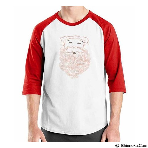 ORDINAL Raglan New Santa 01 Size ML (Merchant) - Kaos Pria