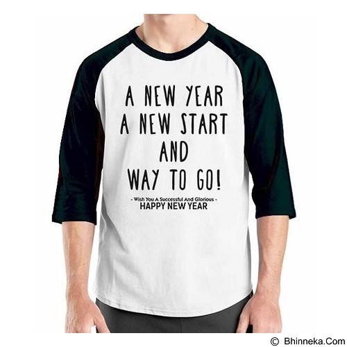 ORDINAL Raglan New Year A New Year Size S (Merchant) - Kaos Pria