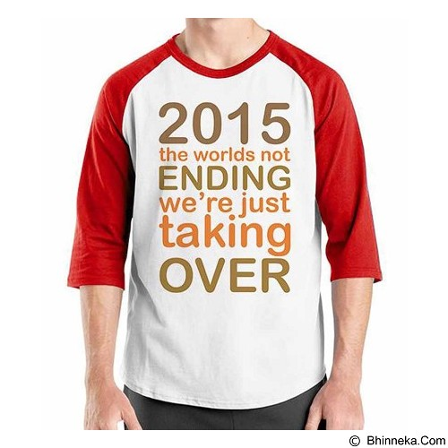 ORDINAL Raglan New Year Taking Over Size L (Merchant) - Kaos Pria