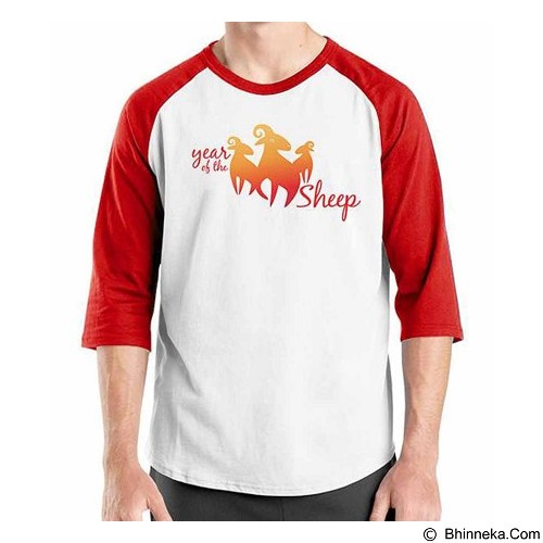 ORDINAL Raglan New Year Year Of The Sheep Size ML (Merchant) - Kaos Pria