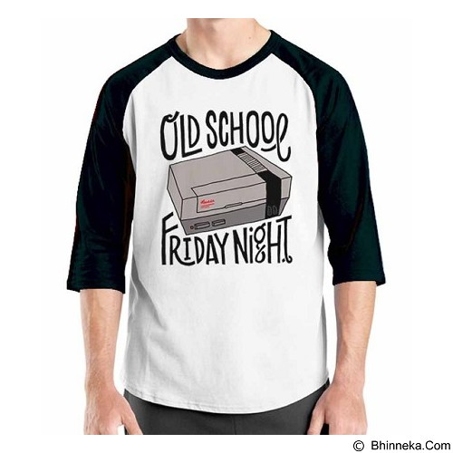 ORDINAL Raglan Old School 09 Size M (Merchant) - Kaos Pria