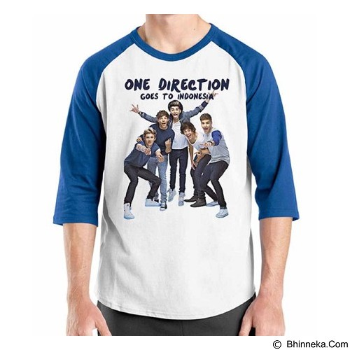 ORDINAL Raglan One Direction Tour 02 Size M (Merchant) - Kaos Pria