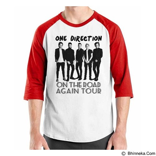 ORDINAL Raglan One Direction Tour 05 Size S (Merchant) - Kaos Pria