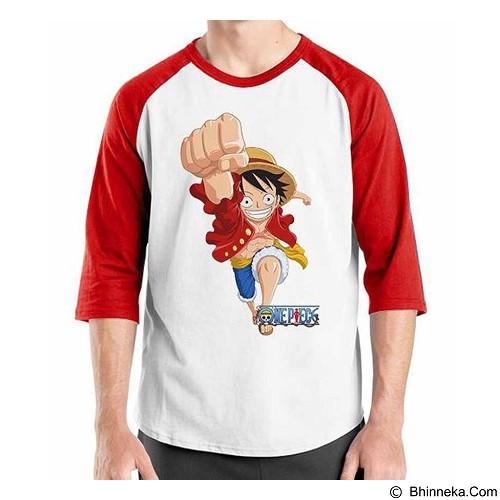 ORDINAL Raglan One Piece Luffy NW 06 Size S (Merchant) - Kaos Pria