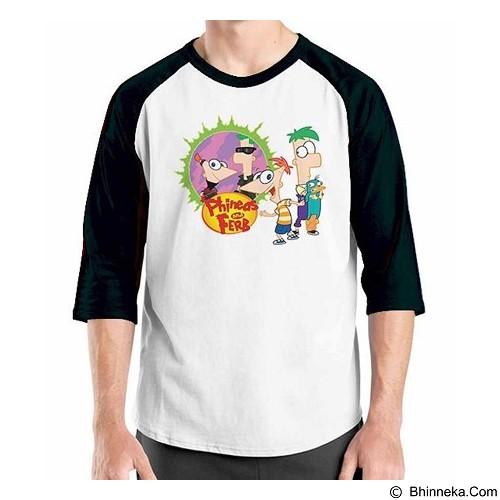 ORDINAL Raglan Phineas and Ferb Size XXL (Merchant) - Kaos Pria