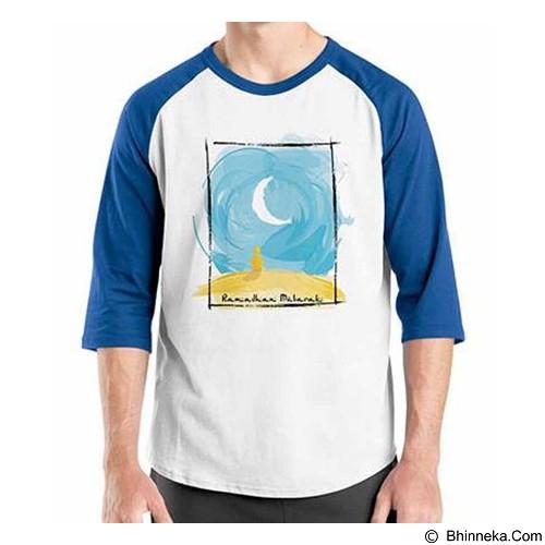 ORDINAL Raglan Ramadan Mubarak 01 Size S (Merchant) - Kaos Pria