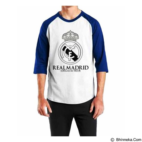 ORDINAL Raglan Real Madrid 01 Size L (Merchant) - Kaos Pria