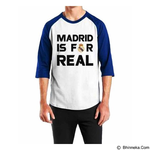 ORDINAL Raglan Real Madrid 04 Size XL (Merchant) - Kaos Pria