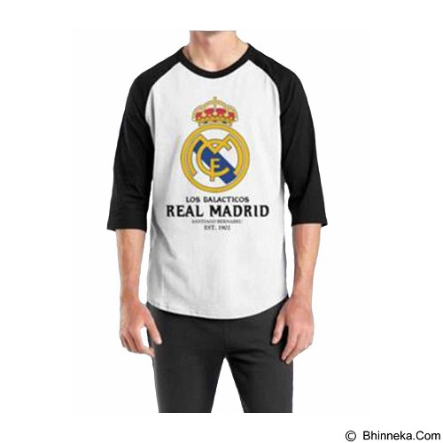ORDINAL Raglan Real Madrid 06 Size M (Merchant) - Kaos Pria