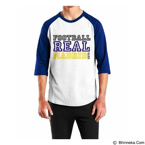 ORDINAL Raglan Real Madrid 09 Size L (Merchant) - Kaos Pria