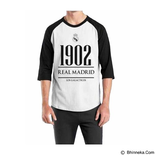 ORDINAL Raglan Real Madrid Year Size S (Merchant) - Kaos Pria