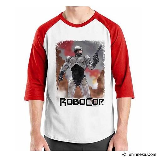 ORDINAL Raglan Robocop 07 Size XL (Merchant) - Kaos Pria