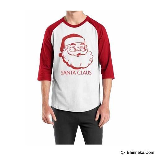 ORDINAL Raglan Santa Claus 01 Size XXL (Merchant) - Kaos Pria