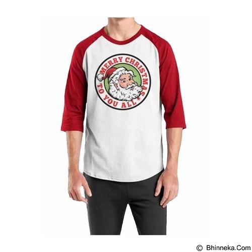ORDINAL Raglan Santa Claus 02 Size L (Merchant) - Kaos Pria