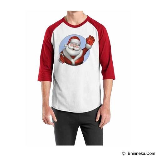 ORDINAL Raglan Santa Claus 08 Size ML (Merchant) - Kaos Pria