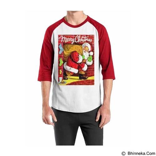 ORDINAL Raglan Santa Claus 11 Size XL (Merchant) - Kaos Pria