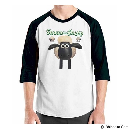 ORDINAL Raglan Shaun The Sheep 01 Size M (Merchant) - Kaos Pria