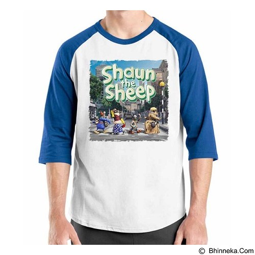 ORDINAL Raglan Shaun The Sheep 03 Size XL (Merchant) - Kaos Pria