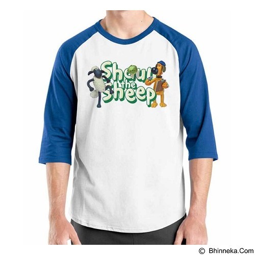 ORDINAL Raglan Shaun The Sheep 08 Size XL (Merchant) - Kaos Pria