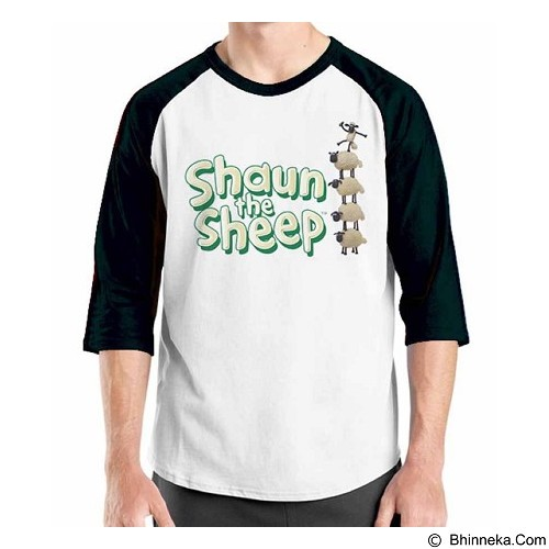 ORDINAL Raglan Shaun The Sheep 09 Size XL (Merchant) - Kaos Pria