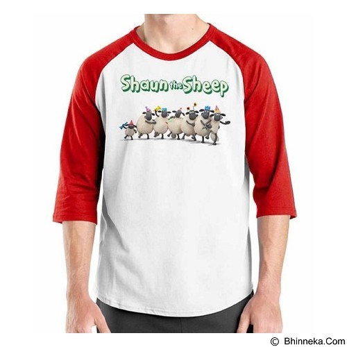 ORDINAL Raglan Shaun The Sheep 11 Size M (Merchant) - Kaos Pria