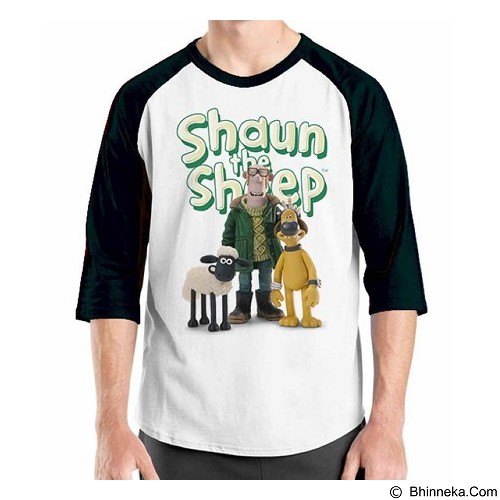ORDINAL Raglan Shaun The Sheep 14 Size ML (Merchant) - Kaos Pria