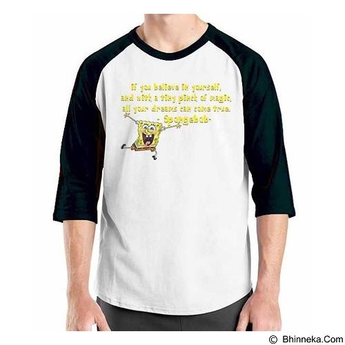 ORDINAL Raglan Sponge Bob Quotes 03 Size S (Merchant) - Kaos Pria