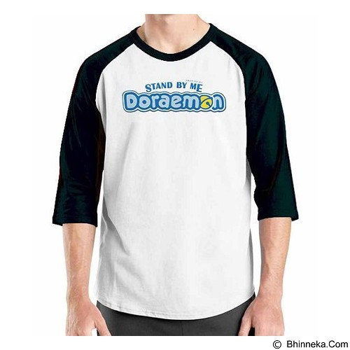 ORDINAL Raglan Stand By Me Doraemon Logo 03 Size ML (Merchant) - Kaos Pria