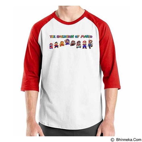 ORDINAL Raglan The Evolution Of Mario Size L (Merchant) - Kaos Pria