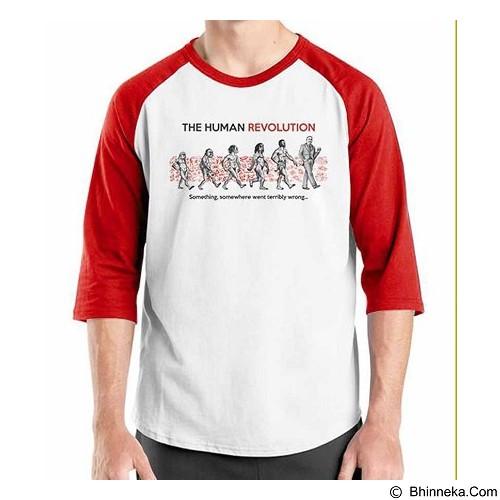 ORDINAL Raglan The Human Revolution Size L (Merchant) - Kaos Pria