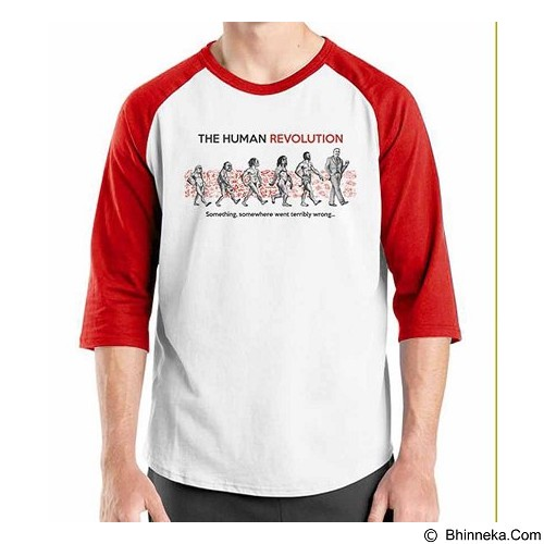 ORDINAL Raglan The Human Revolution Size S (Merchant) - Kaos Pria