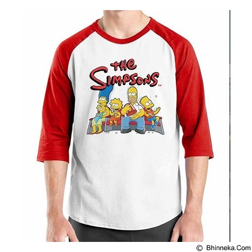 ORDINAL Raglan The Simpsons Size XL (Merchant) - Kaos Pria