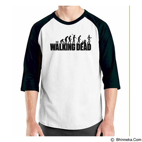 ORDINAL Raglan The Walking Dead Evolution  Size M (Merchant) - Kaos Pria