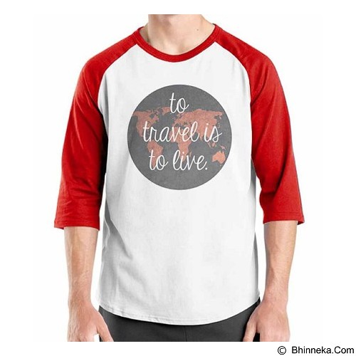 ORDINAL Raglan Travel Quotes 01 Size L (Merchant) - Kaos Pria